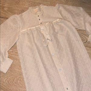Vintage white lace nightie gown xl